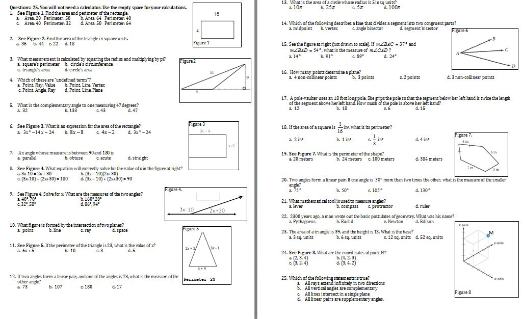 geometric transformations worksheets