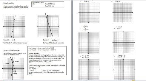 LinearInequalitiesNotesSheet