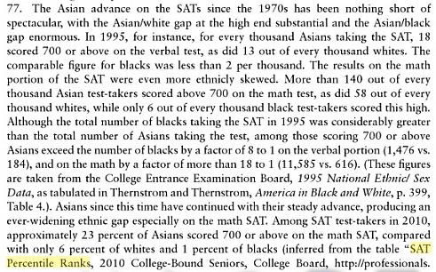 asian americans educationrealist satpercentileasians1995