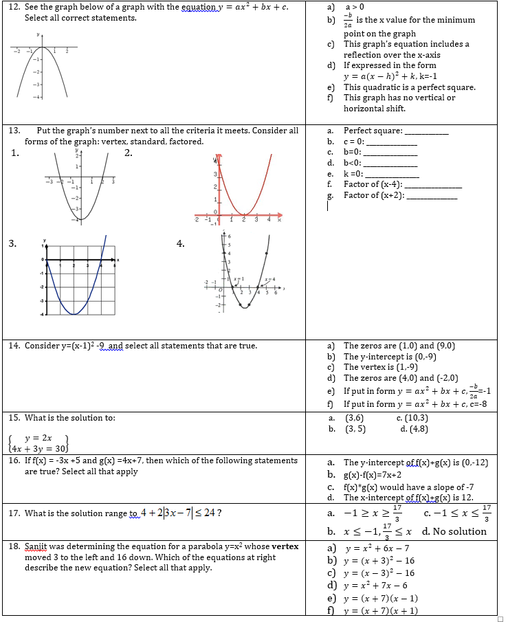 algebra 2 – Algebra 2 Worksheet Answers
