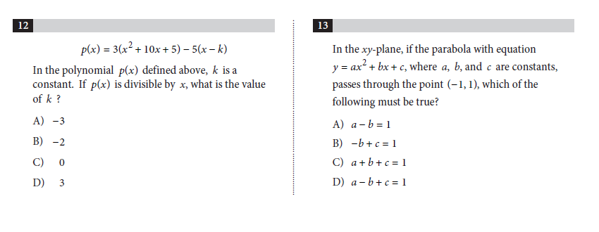 Evaluating the New PSAT Math – Sat Math Prep Worksheets